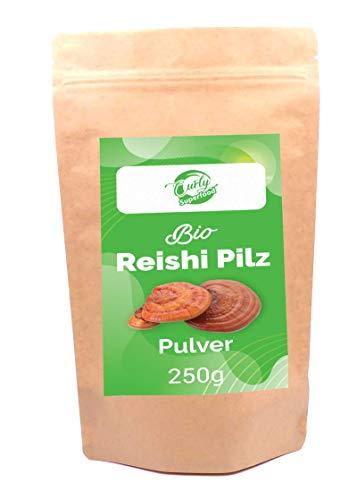Bio Reishi Pilz Pulver 250g | ganzer Fruchtkörper | ohne Zusatzstoffe