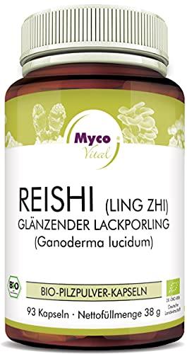 MycoVital Bio Reishi Pilzpulver-Kapseln 93 Stück je 400 mg aus...