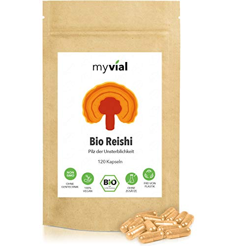 myvial® Bio Reishi Kapseln 120 Stück vegan   60-Tage-Vorrat   400mg...
