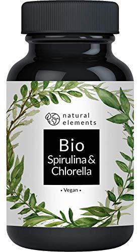 Bio Spirulina & Chlorella Presslinge - 500 Tabletten -...