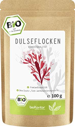 BIO Dulse Flocken 100g aus dem Atlantik | Dulse Algen aus Wildsammlung...