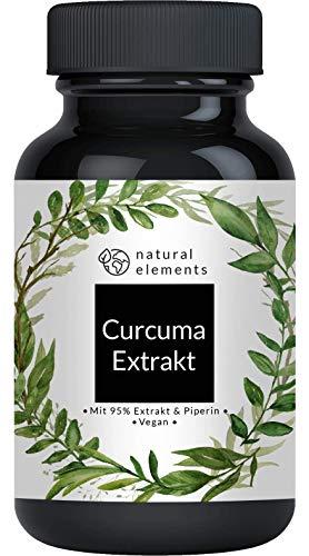 Curcuma Extrakt Kapseln - Vergleichssieger 2020* - Curcumingehalt...