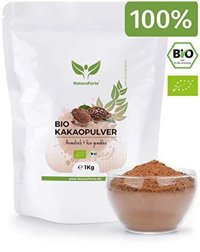 NaturaForte Kakaopulver Bio 1kg - Rohes Kakao Pulver, Ohne Zucker,...