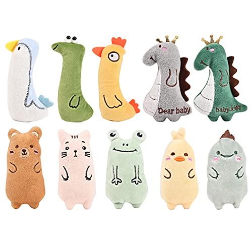 YIIFELL Spielzeug mit Katzenminze,10 Stück Katzenspielzeug mit...