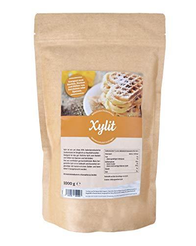 Premium Xylit mit 1:1 Süßkraft gegenüber Zucker 1kg verwendbar als...