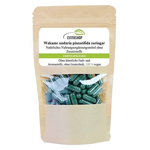 Wakame Kapseln (Undaria pinnatifida)   1 Packung = 60 x 500 mg   Ohne...
