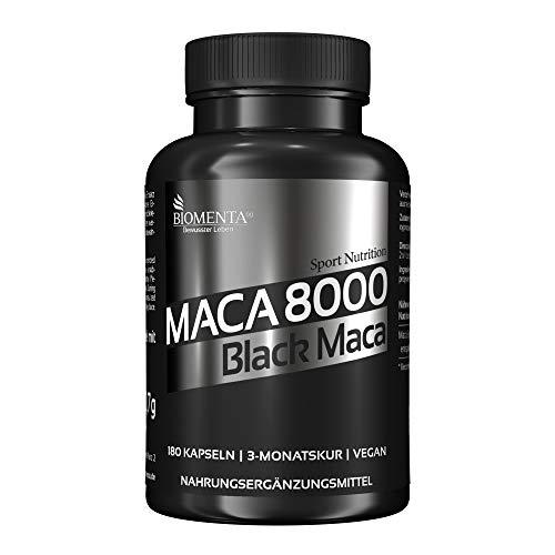 BIOMENTA Maca 8000 - Maca hochdosiert – Schwarzes Maca aus Peru -...