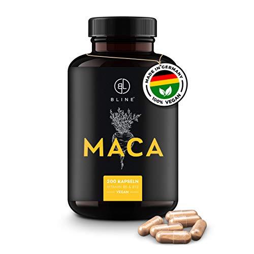 BLINE® Premium MACA Kapseln – 8.000mg pro Kapsel – [200] vegane...