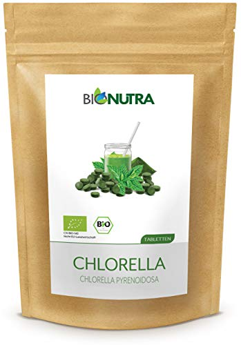 BioNutra® Chlorella-Presslinge Bio 1000 x 250 mg Tabletten, 100% rein...