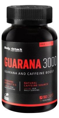 Body Attack-Guarana 3000, hochdosierte Guarana Engery Caps, 300mg...