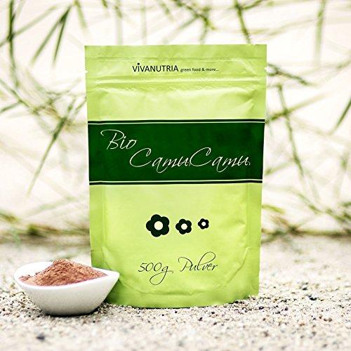VivaNutria Bio Camu Camu Pulver 500g I Camu Camu Vitamin C Pulver...
