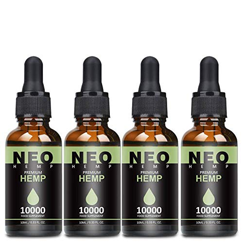 4 Pack Höchste Qualität Hanföl mit natürlichen Zutaten,...