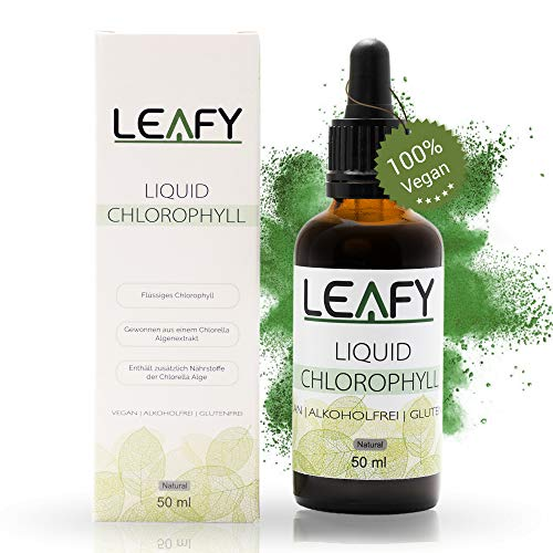 Leafy - Liquid Chlorophyll Tropfen - aus der CHLORELLA ALGE - 50 ml-...