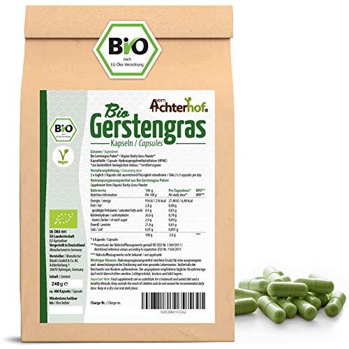 Gerstengraskapseln Bio Nachfüllpack   400 Stück   direkt vom...