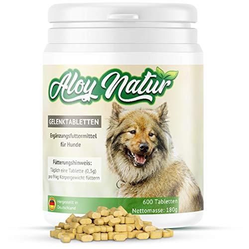 ALOY NATUR® Gelenktabletten für Hunde - 600 Tabletten (180g) - mit...