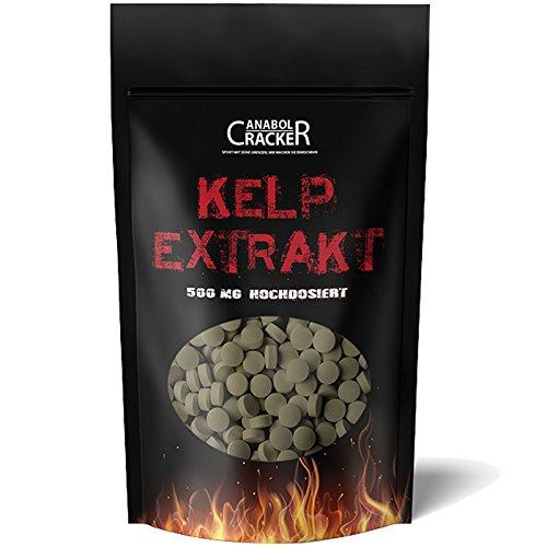 500 Tabletten - Kelp Extrakt, 500mg Kelp mit 150mcg Jod/Tablette, für...