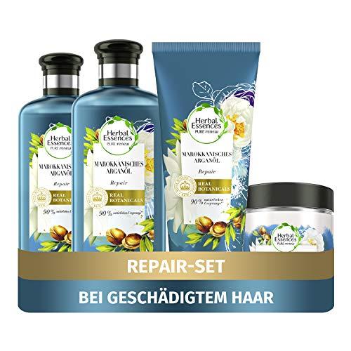 Herbal Essences PURE:renew Haarpflege Set: 2x Marokkanisches Arganöl,...