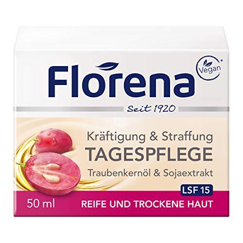 Florena Tagespflege mit Traubenkernöl & Sojaextrakt Gesichtscreme,...