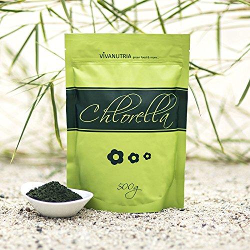 VivaNutria, 500g Chlorella Pulver, Chlorella-Pulver, Chlorellapulver...
