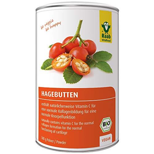 Raab Vitalfood Bio Hagebutten-Pulver, ohne Zusätze, vegan, mit...