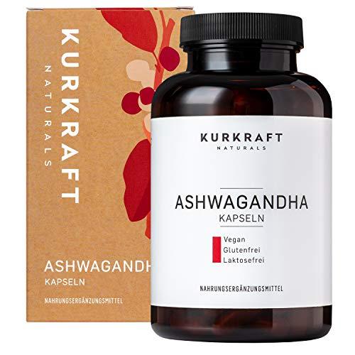 Kurkraft Premium Bio Ashwagandha (180 Kapseln) - 600mg je Kapsel...