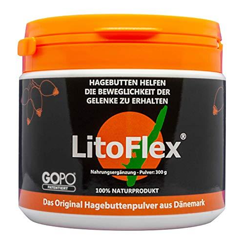 LITOFLEX HAGEBUTTE GOPO Pulver 300 g - Hagebuttenpulver für...
