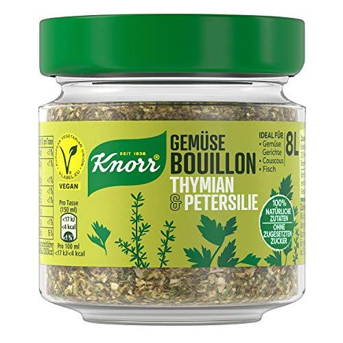 Knorr Gemüse Bouillon Thymian & Petersilie (100% Natürliche + Vegane...