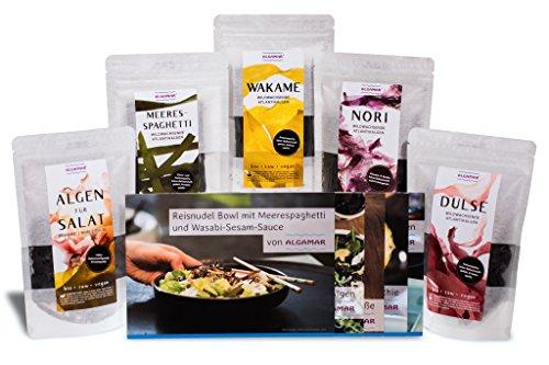 ALGAMAR Algen Starter-Box, Bio, Roh & Vegan, getrocknete Meeresalgen /...