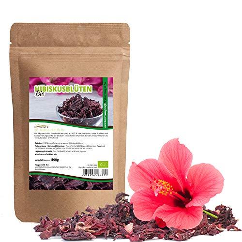 Mynatura Bio Hibiskusblüten 500g I Ganze Blüten I Hibiskus I...