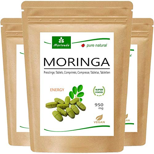 MoriVeda® - Moringa Energy Tabs 950mg oder Moringa Kapseln 600mg –...
