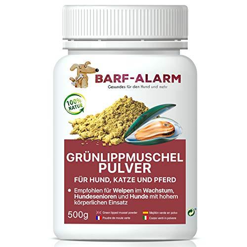 barf-alarm 100% Grünlippmuschelpulver für Hunde 500g - Natürliches...
