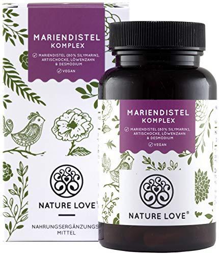 NATURE LOVE Mariendistel - Premium 4-fach Komplex: Mariendistel (80%...