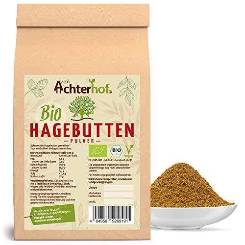 Bio Hagebuttenpulver (1kg) | ganze Hagebutte gemahlen | 100% ECHTES...
