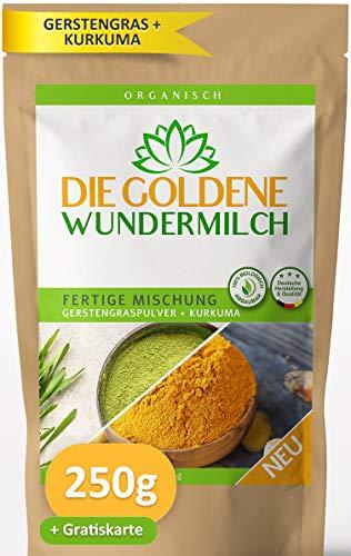 Die Goldene Milch | Kurkuma + Gerstengraspulver | FERTIGE MISCHUNG |...