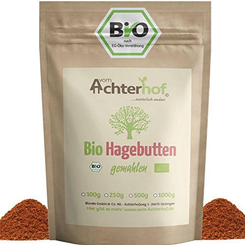 Bio Hagebuttenpulver 1Kg | ganze Hagebutte gemahlen | 100% ECHTES Bio...