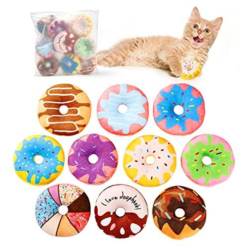 Toozey Katzenspielzeug Donuts mit Katzenminze, Katzenminze Donuts...