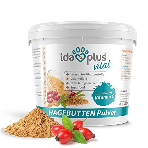 Ida Plus - Hagebuttenpulver 1 kg XXL Packung (besonders ergiebig) –...