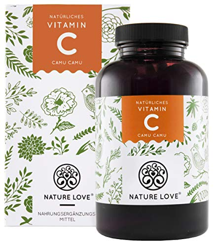 NATURE LOVE® Camu Camu Extrakt Kapseln - natürliches Vitamin C. 120...
