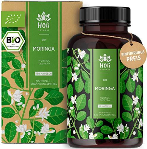 Holi Natural® BIO Moringa Kapseln | 180 vegane Kapseln | 1800mg je...