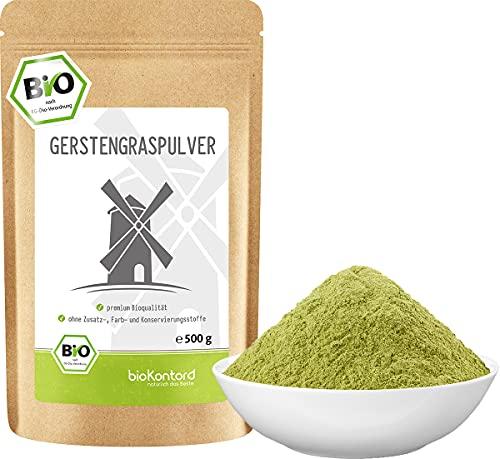 BIO Gerstengraspulver 500g   Gerstengras gemahlen   100% naturrein  ...