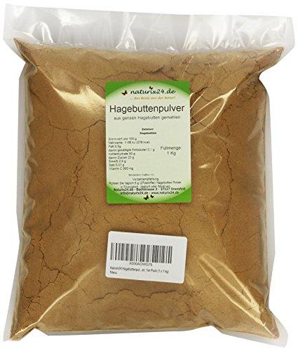 Naturix24 Hagebuttenpulver, Hagebutten gemahlen, 1er Pack (1 x 1 kg)