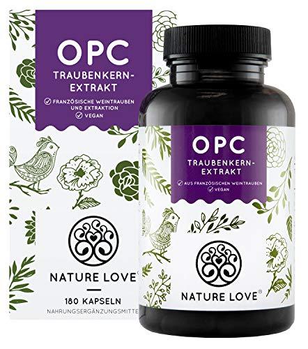 NATURE LOVE® OPC Traubenkernextrakt - Aus französischen Trauben UND...