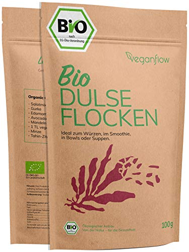 veganflow® Dulse Flocken Bio aus dem Atlantik, laborgeprüft,...