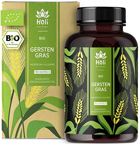 Holi Natural® BIO Gerstengras | 180 Kapseln | 3600mg je Tagesdosis |...
