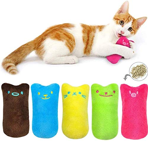 BTkviseQat Spielzeug mit Katzenminze,5 Stück Knuddelkissen Niedlich...
