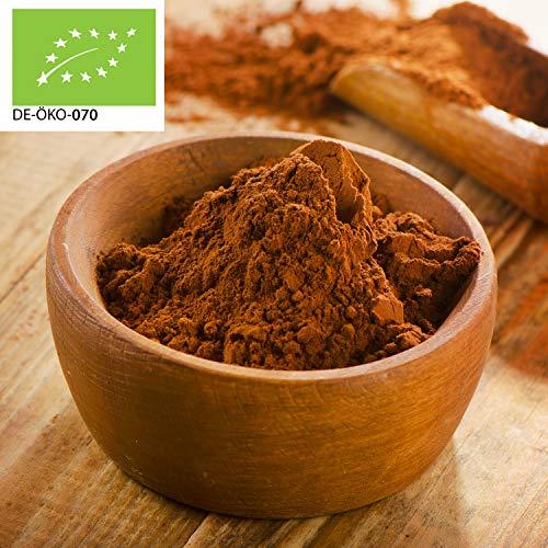 1000g Bio Kakao Pulver | 1 kg | 100% reines Kakaopulver (stark entölt...