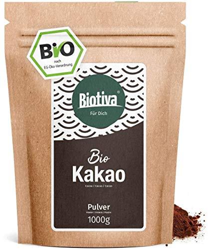 Kakao Pulver Bio 1000g - 100% reines Kakaopulver stark entölt (11%...