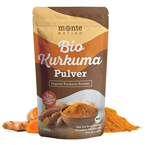 Bio Kurkuma Pulver von MonteNativo – 1000 g/1Kg gemahlen | Premium...