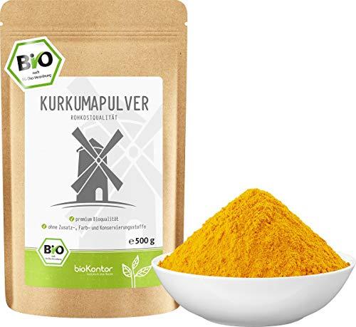 BIO Kurkuma Pulver gemahlen 500 g   Kurkumapulver - Curcuma - Curcumin...
