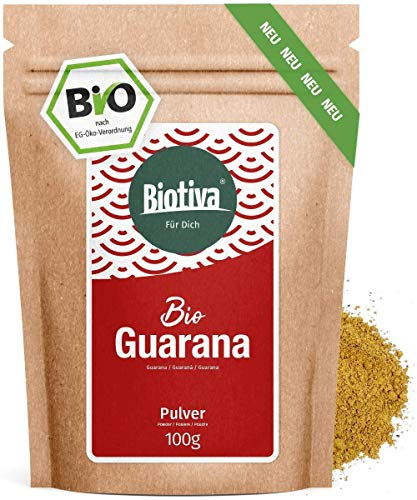 Guarana Pulver Bio - 100g reines Guaranapulver - Energizer -...